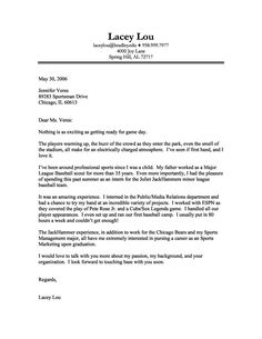 sports cover letter sample - Cover Letter Employment