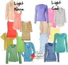 Warm & Cool Light colors for wardrobe building.
