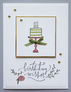 Heart's Delight Cards: Happiest of Days Birthday Wishes