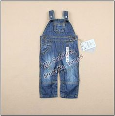New arrival Baby Denim Jeans boys girls Suspender trousers overalls kids bib pants trousers with braces children split pants