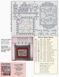 Schema punto croce Quilters Delight 04