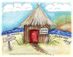 Tikki Hut Print (Lamentations 3:23)