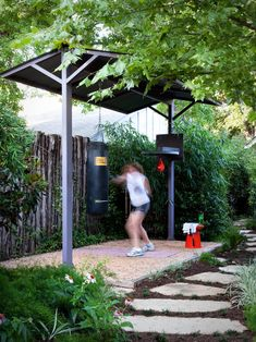 Love the idea of workout stations in the yard.