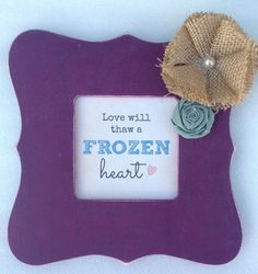 CUSTOM Frozen-Inspired Anna Frame with by SweetPeaCustomDecor