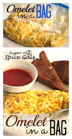 How to make an Omelet in a Ziplock bag. Easiest, tastiest breakfast ever! -Sugar n' Spice Gals www.sugar-n-spice. Brunch Recipes, My Recipes, Cooking Recipes, Favorite Recipes, Recipies, Delicious Recipes, Yummy Food, Omelets In A Bag, Easy Omelet