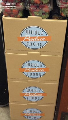 Whole foods produce packaging