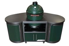 Custom cooking island by Big Green Egg
