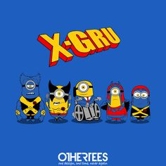 """""""X-Gru"""" by Melonseta Shirts on sale until 26 July on othertees.com Pin it for a chance at a FREE TEE! #minions #xmen"""