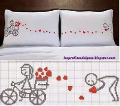 Brilliant Cross Stitch Embroidery Tips Ideas. Mesmerizing Cross Stitch Embroidery Tips Ideas. Cross Stitching, Cross Stitch Embroidery, Embroidery Patterns, Hand Embroidery, Cross Stitch Patterns, Cross Stitch Heart, Diy Pillows, Pillow Cases, Blanket