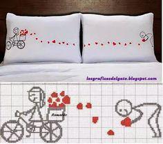 Divertido y tierno gráfico de amor en bici...