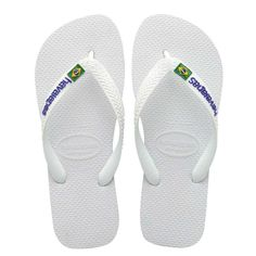 Havaianas Brazil Logo White Flip Flop