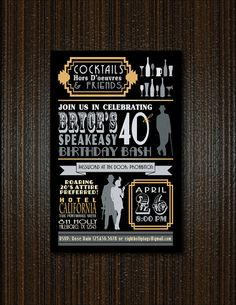 Love the verbiage!  Roaring 20s Flapper Invitation by 8Hollydays on Etsy, $15.00