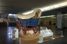 This ca. 1840-1850 Conestoga wagon, a freight hauler in Pennsylvania, represents the role of covered wagons in pushing the American frontier...
