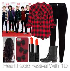 """""""iHeart Radio With 1D"""" by bricel1d ❤ liked on Polyvore featuring beauty, River Island, Kate Spade, NARS Cosmetics and Steve Madden"""