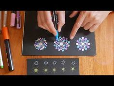 In this tutorial I show you how to paint this dot mandala art daisy flower using acrylic paint! Supplies used: Smaller set of Susan Bates Crochet hooks set -. Dot Art Painting, Mandala Painting, Painting Patterns, Stone Painting, Mandala Painted Rocks, Mandala Rocks, Hand Painted Rocks, Mandala Canvas, Mandala Art