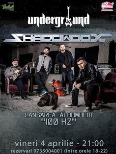 "Underground Iași: Concert Shadowbox, lansarea albumul ""100 HZ"""