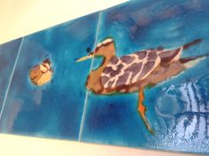 Bespoke Duck & Duckling tile mural for a kitchen.