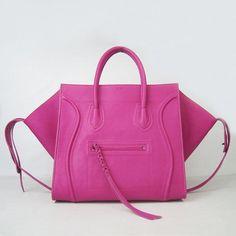 Celine Boston Tote Bag Pink Cline Square Calfskin Pink Handbag [Celine-056] - €230.00