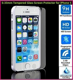 0.33mm Anti Scratch Tempered Glass Screen Protector for iPhone 5
