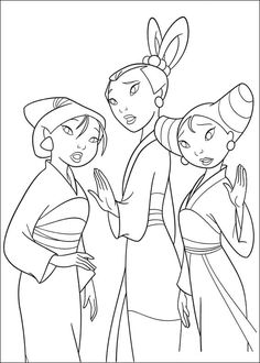 Una raccolta di ben 70 disegni della principessa Mulan da stampare e colorare gratis anche nella versione album in PDF per la gioia delle bambine