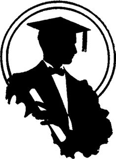 Graduation Silhouette Image