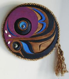 Northwest Coast  Art  ABSTRACT TLINGIT TRUTH PANEL  COLLECTABLE SCULPTURE