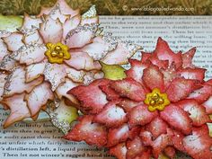 Tattered Poinsettia die from Tim Holtz Project by Wanda Guess