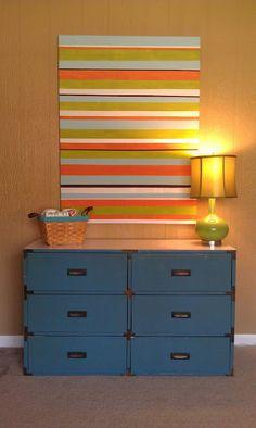 DIY Art Tutorial Striped canvas art