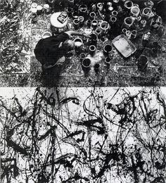 Dan Fischer  Jackson Pollock in Studio, 2009-2012 graphite on paper 22 x 20 inches