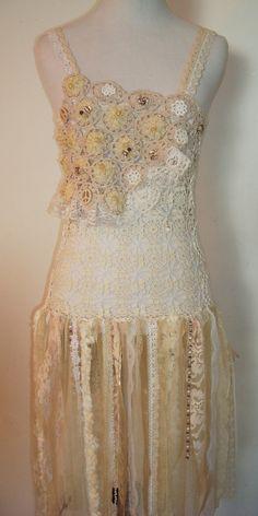 Boho/Hippie/Crochet/Lacy/Overlay/Dress