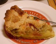 leslie land rhubarb custard pie slice