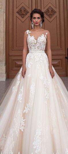 Wedding dress idea; Featured Dress: Milla Nova                                                                                                                                                                                 More