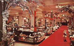 Woodward & Lothrop Department Store at Christmas.