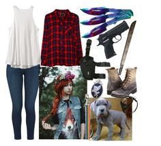 """The walking dead"" by postapocalyptic ❤ liked on Polyvore featuring J Brand, RVCA, Rails and Frye"
