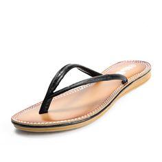 Black PU Flip flops