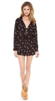 love this cute floral romper. perfect for summer time pair with booties or heels