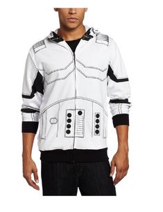 Join the 501st Legion this Halloween when you wear this officially-licensed I Am Stormtrooper Adult Full Zip Up Costume Hoodie Sweatshirt out to your next comic con or cosplay gathering dressed in a DYI Star Wars Stormtrooper Halloween costume.  Simply find a Stormtrooper Star Wars helmet and put in while you're wearing this Star Wars hoodie and: presto! change-o!  you're a stormtrooper!
