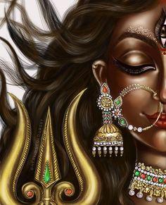 Durga Images, Lakshmi Images, Lord Krishna Images, Ganesh Images, Shiva Art, Shiva Shakti, Krishna Art, Hindu Art, Indian Goddess