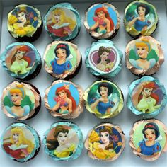 Disney Princess cupcakes :)