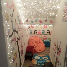 A way to make twinkle lights permanent & connect to a light switch inside the play house?