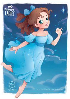 Disney Ladies 008 - Wendy Darling - by Cifaela Disney Fan Art, Punk Disney, Disney Pixar, Disney Girls, Disney And Dreamworks, Disney Animation, Animation Film, Disney Love, Disney Magic