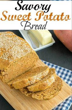 aromatic and yest free Savory Sweet Potato Bread is a perfect home baked bread! Its made with healthy and simple ingredients. Along with being vegan its great for breakfast or snacking at any time of the day Appetizer Recipes, Snack Recipes, Dessert Recipes, Easy Bread Recipes, Vegan Recipes, Delicious Recipes, Apple Pie Cupcakes, Sweet Potato Bread, Bread Baking