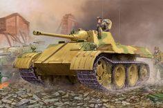 German IIWW reconnaisance tank VK 1602 Leopard - Image 1