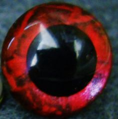Plastic safety eyes 24 mm hand painted metallic by GhoulieDollies, $5.00