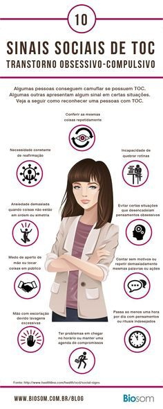 Anxiety Disorders - OCD Signs and symptoms of obsessive compulsive disorder. Mental Disorders, Bipolar Disorder, Psychology Disorders, People With Ocd, Relationship Addiction, Psychology Facts, Ocd Facts, Psychology Studies, Educational Psychology