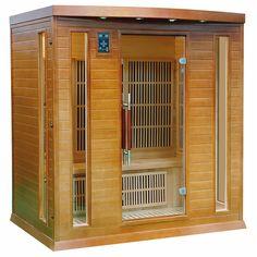 Duża sauna domowa z koloroterapią przeznaczona dla 4 osób, wyposażona m.in. w jonizator powietrza...