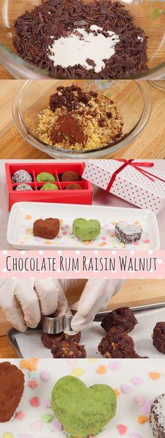 Chocolate Rum Raisin Walnut Valentines Recipe