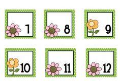 Flower Calendar Pieces