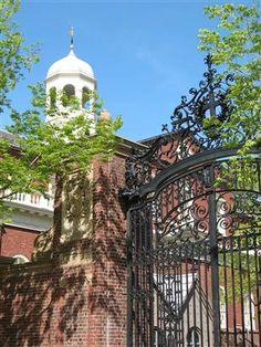 Johnston Gate at the entrance to Harvard Yard, Harvard University