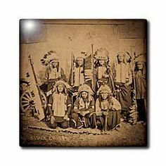 """1895 Buffalo Bill Wild West Show Sioux Chiefs - 12 Inch Ceramic Tile by 3dRose. $22.99. Dimensions: 12"""" H x 12"""" W x 1/4"""" D. Construction grade. Floor installation not recommended.. Image applied to the top surface. Clean with mild detergent. High gloss finish. 1895 Buffalo Bill Wild West Show Sioux Chiefs Tile is great for a backsplash, countertop or as an accent. This commercial quality construction grade tile has a high gloss finish. The image is applied to the t..."""
